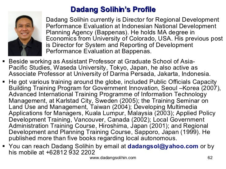 <ul><li>Beside working as Assistant Professor at Graduate School ofAsia-PacificStudies, Waseda University, Tokyo, Japan,...