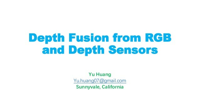 Depth Fusion from RGB and Depth Sensors by Deep Learning