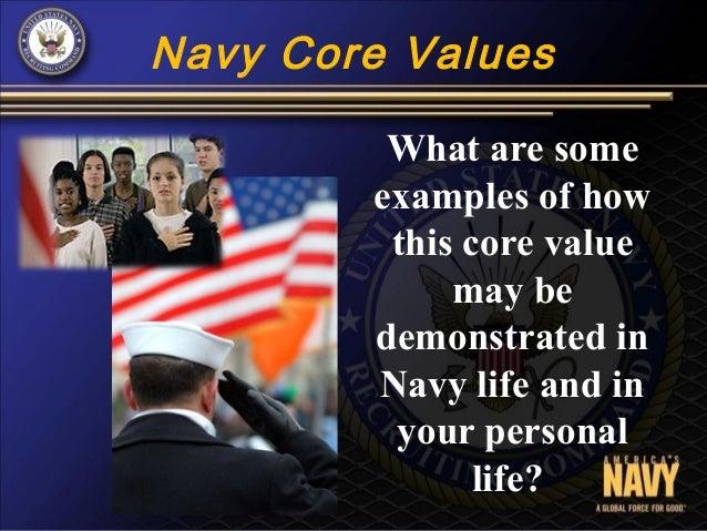 navy core values