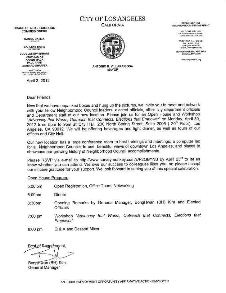 Department of Neighborhood Empowerment Open House Invitation 2012