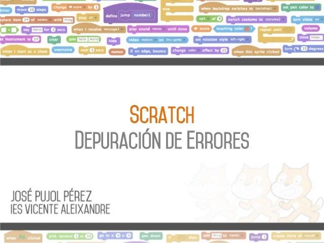 Scratch Depuración de errores