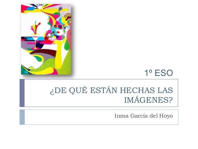 ¿DE QUÉ ESTÁN HECHAS LAS IMÁGENES? Inma García del Hoyo 1º ESO