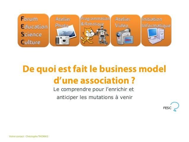 De quoi est fait le business model                 d'une association ?                                    Le comprendre po...