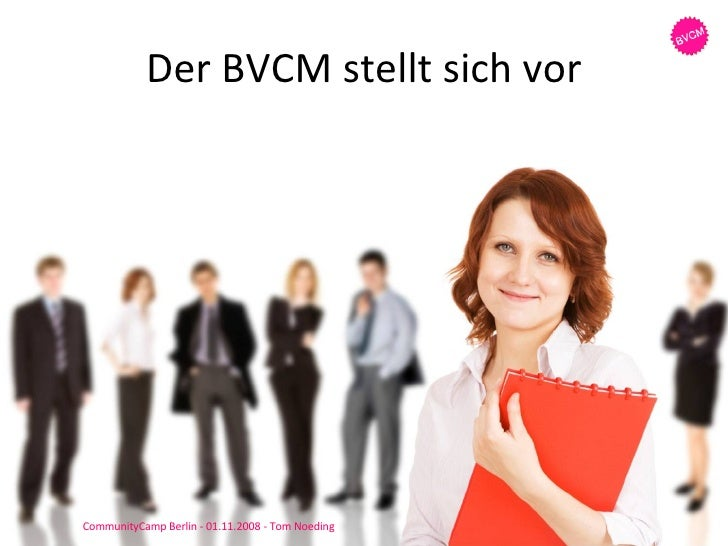 Der BVCM stellt sich vor CommunityCamp Berlin - 01.11.2008 - Tom Noeding