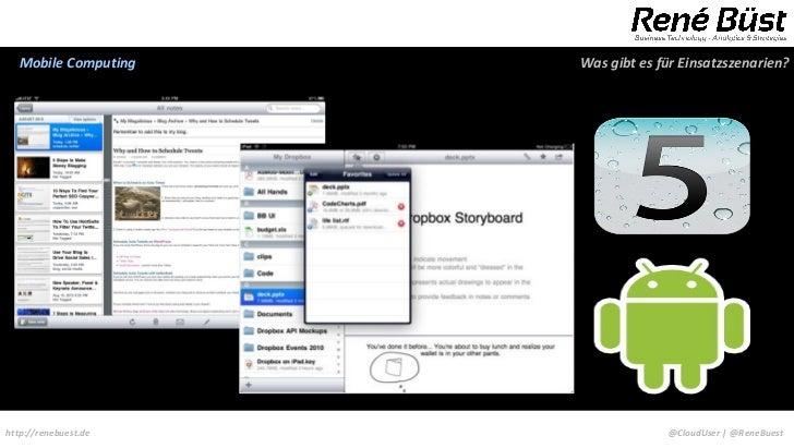 Mobile Computing    Was gibt es für Einsatzszenarien?http://renebuest.de                @CloudUser | @ReneBuest