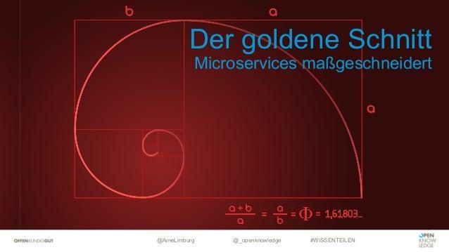 @ArneLimburg @_openknowledge #WISSENTEILEN Der goldene Schnitt Microservices maßgeschneidert