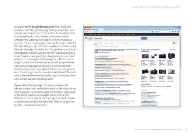 10 google Adwords | Der schnelle Weg zur Google-Anzeige | Teil 1 Anzeigen mit Produktinformationen empfehlen sich besonder...