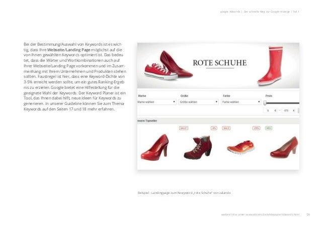 Bei der Bestimmung/Auswahl von Keywords ist es wich- tig, dass Ihre Webseite/Landing Page möglichst auf die von Ihnen gewä...