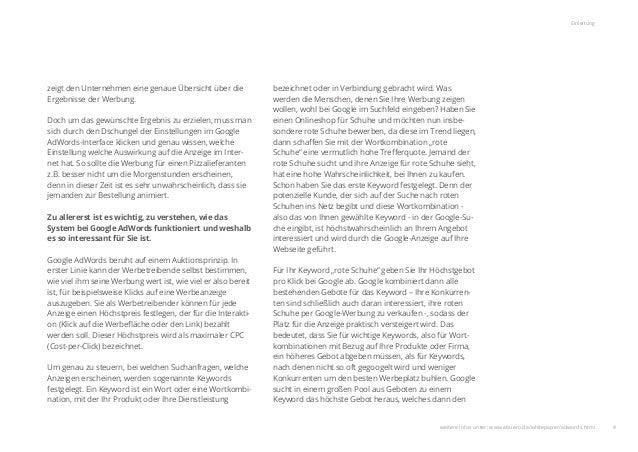 4 Einleitung zeigt den Unternehmen eine genaue Übersicht über die Ergebnisse der Werbung. Doch um das gewünschte Ergebnis ...