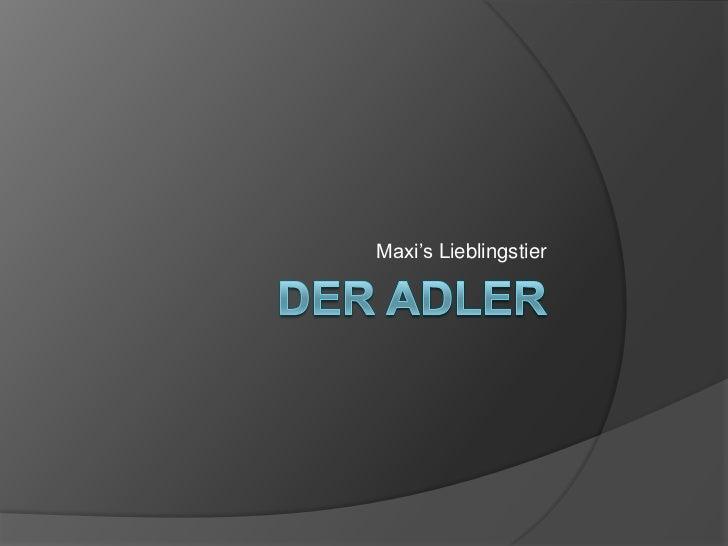 Der Adler<br />Maxi'sLieblingstier<br />