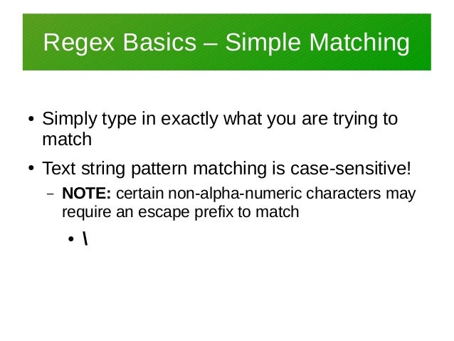 Derbycon 7 0 Legacy Regular Expressions Regex Overview