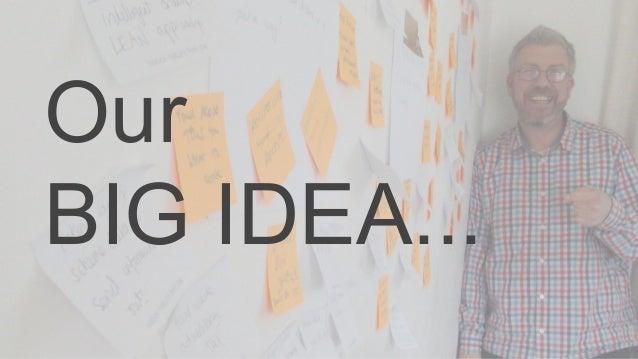Our BIG IDEA...