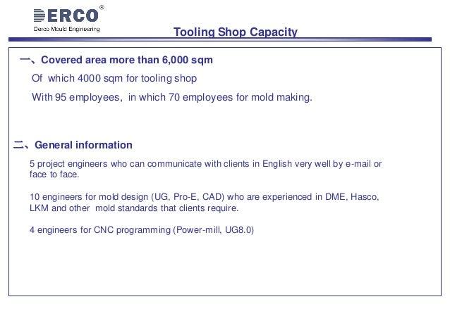 Derco mould engineering company profile 2017