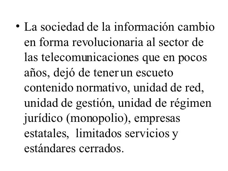 Derecho de las Telecomunicaciones Slide 3