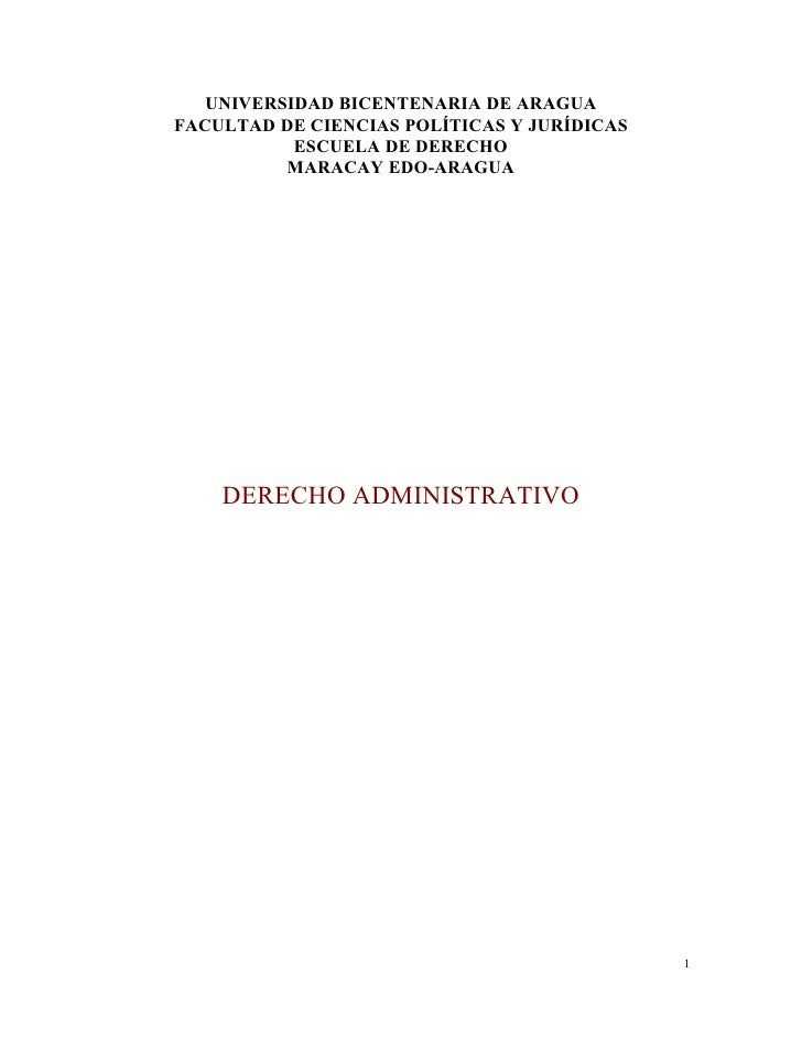 UNIVERSIDAD BICENTENARIA DE ARAGUAFACULTAD DE CIENCIAS POLÍTICAS Y JURÍDICAS           ESCUELA DE DERECHO          MARACAY...