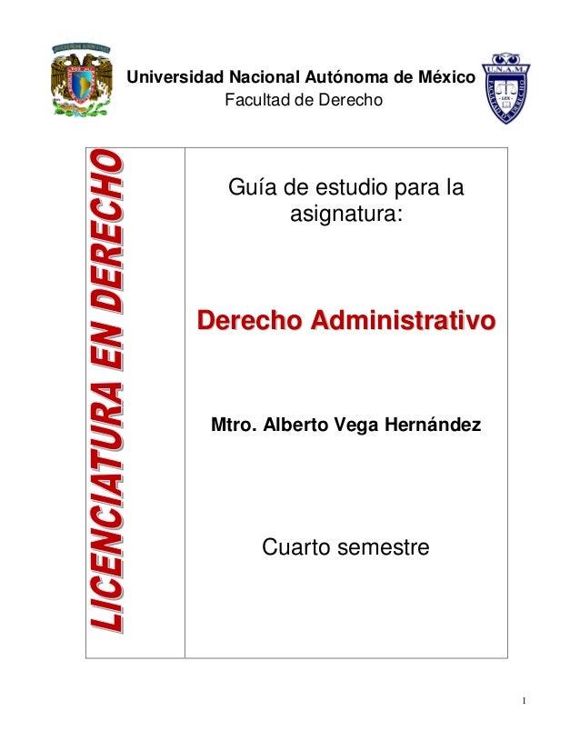 Derecho Administrativo Alberto Vega Hernández