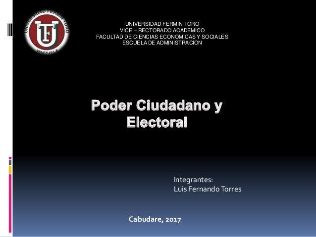 UNIVERSIDAD FERMIN TORO VICE – RECTORADO ACADEMICO FACULTAD DE CIENCIAS ECONOMICAS Y SOCIALES ESCUELA DE ADMINISTRACION In...