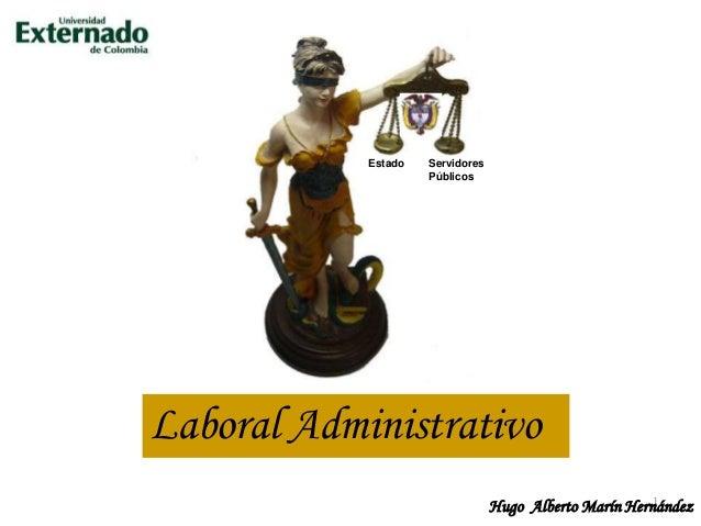 Derecho administrativo y laboral