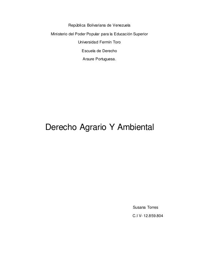 República Bolivariana de Venezuela Ministerio del Poder Popular para la Educación Superior Universidad Fermín Toro Escuela...