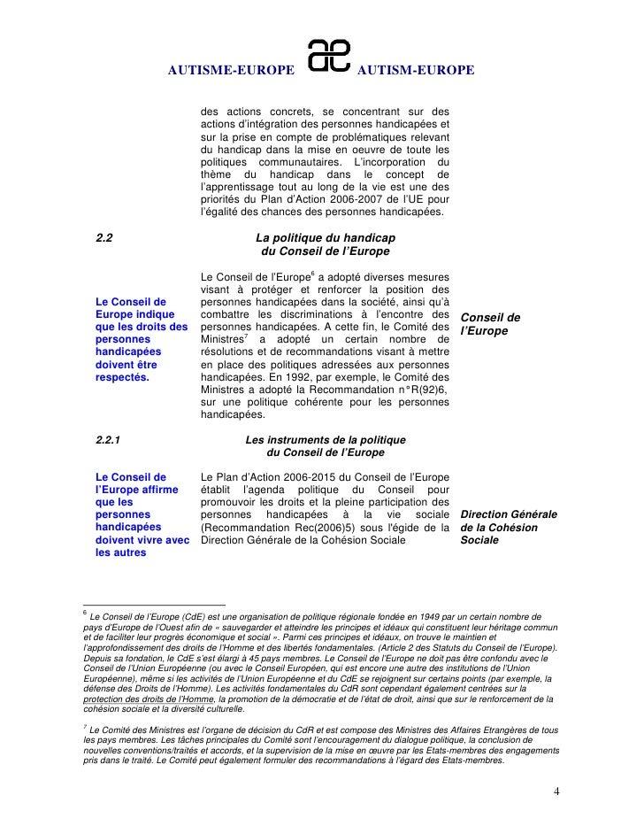 AUTISME-EUROPE                                   AUTISM-EUROPE                              des actions concrets, se conce...