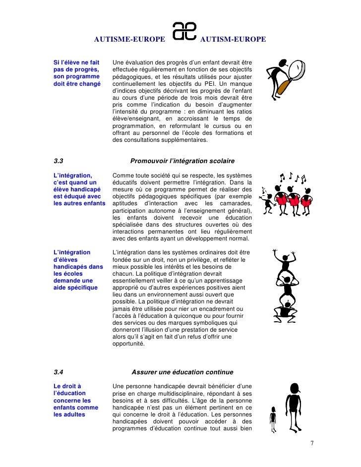 AUTISME-EUROPE                         AUTISM-EUROPESi l'élève ne fait   Une évaluation des progrès d'un enfant devrait êt...