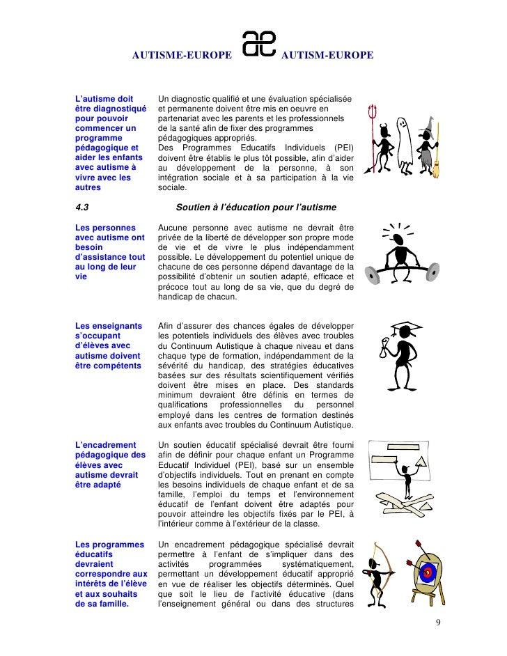 AUTISME-EUROPE                            AUTISM-EUROPEL'autisme doit        Un diagnostic qualifié et une évaluation spéc...