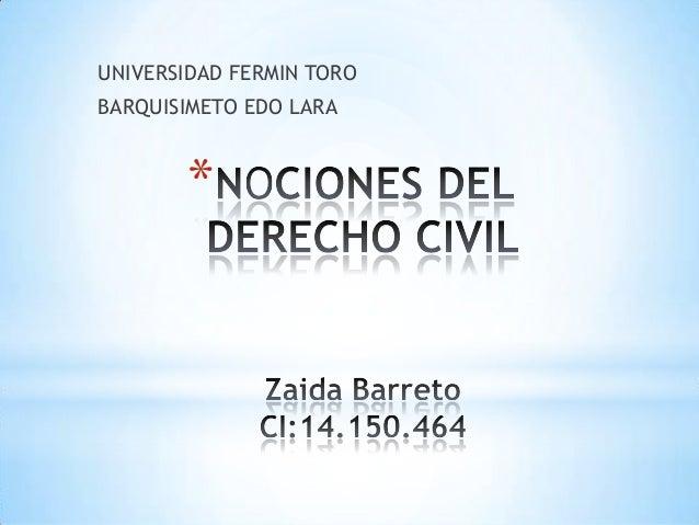 UNIVERSIDAD FERMIN TORO BARQUISIMETO EDO LARA  *