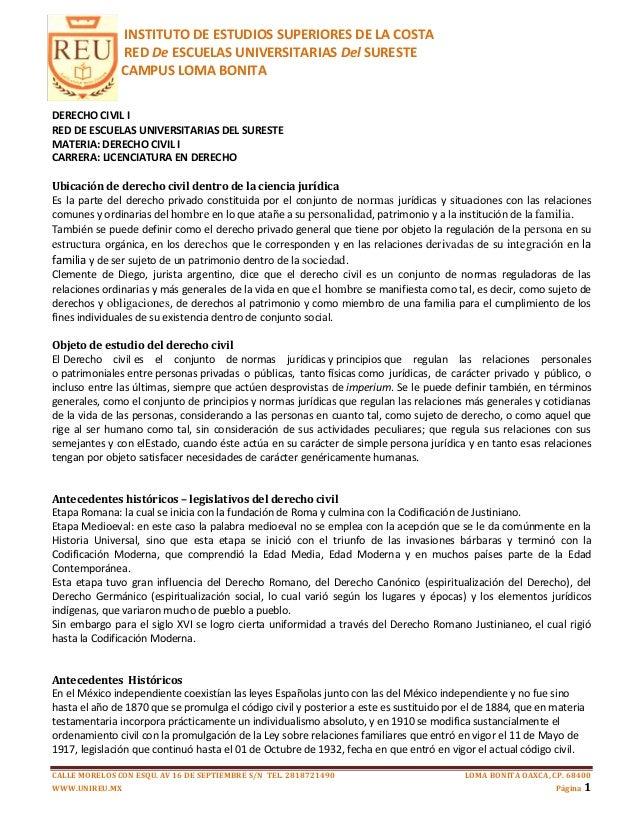 INSTITUTO DE ESTUDIOS SUPERIORES DE LA COSTA               RED De ESCUELAS UNIVERSITARIAS Del SURESTE               CAMPUS...