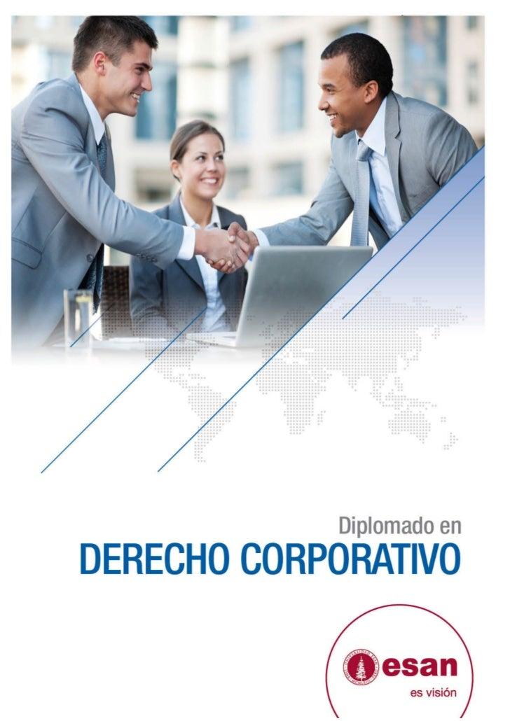 Tríptico Diplomado en Derecho Corporativo