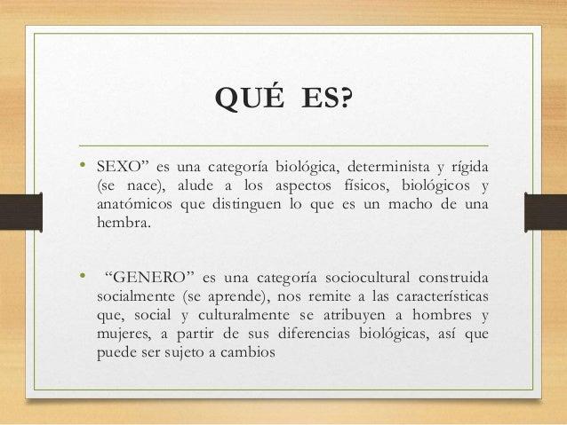 """QUÉ ES? • SEXO"""" es una categoría biológica, determinista y rígida (se nace), alude a los aspectos físicos, biológicos y an..."""