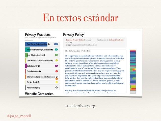 En textos estándar @jorge_morell usableprivacy.org