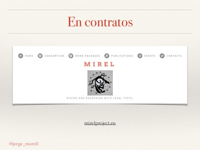 En contratos @jorge_morell mirelproject.eu