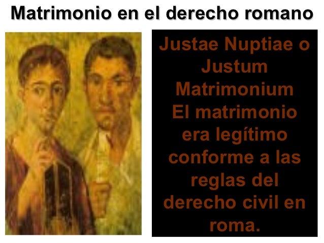 El Matrimonio Romano : Derecho familiar conceptos generales actualizado