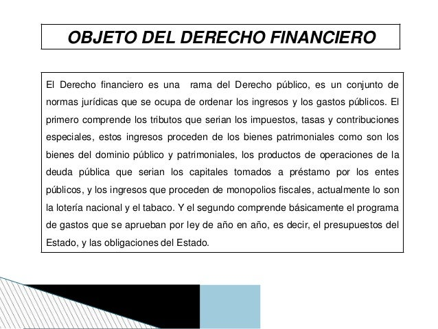 Derecho financiero y derecho tributario