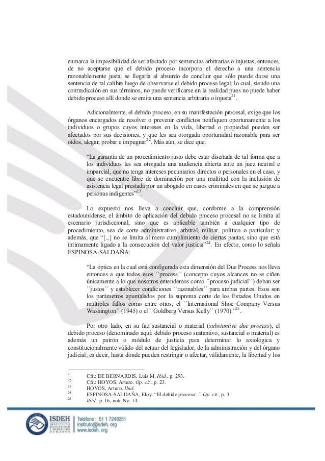 debido proceso jurisprudencia argentina warez