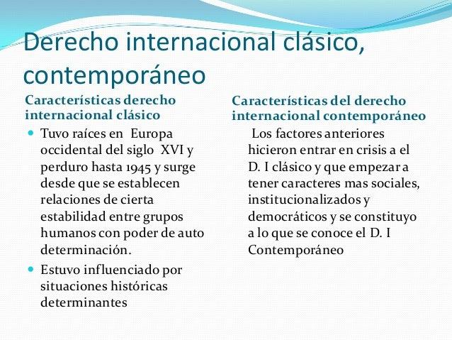 Derecho internacional cl sico contempor neo for Caracteristicas del contemporaneo