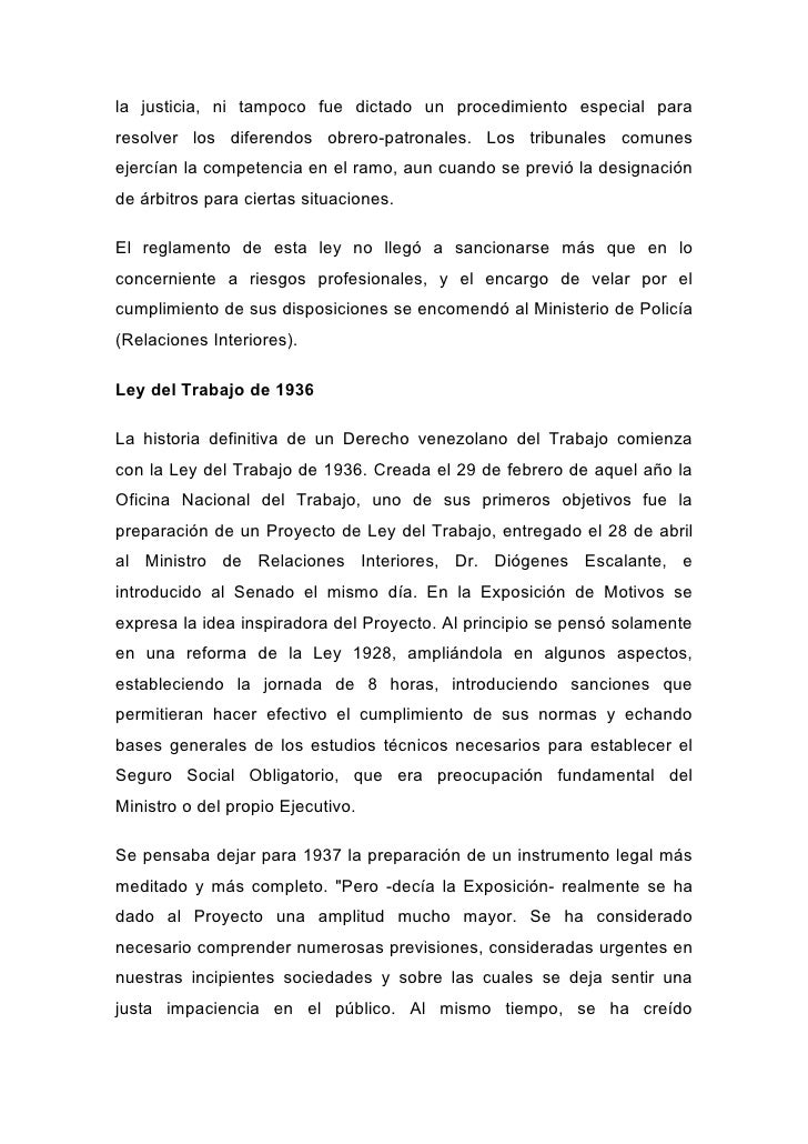Derecho laboral venezuela Ministerio de relaciones interiores y justicia