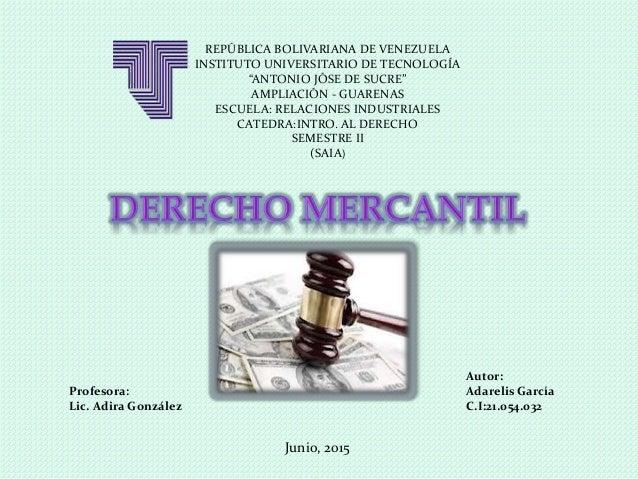"""REPÚBLICA BOLIVARIANA DE VENEZUELA INSTITUTO UNIVERSITARIO DE TECNOLOGÍA """"ANTONIO JÓSE DE SUCRE"""" AMPLIACIÓN - GUARENAS ESC..."""