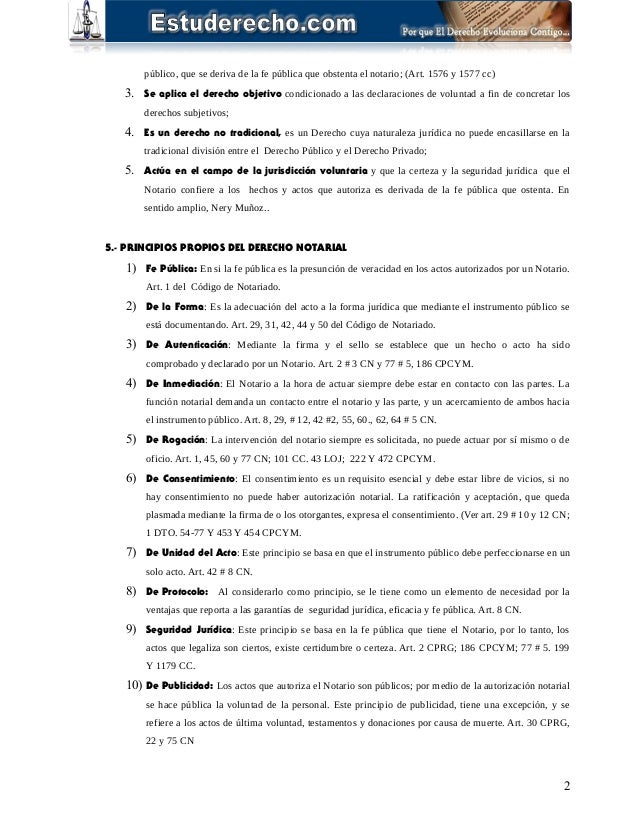 Derecho notarial for Art 1576 cc