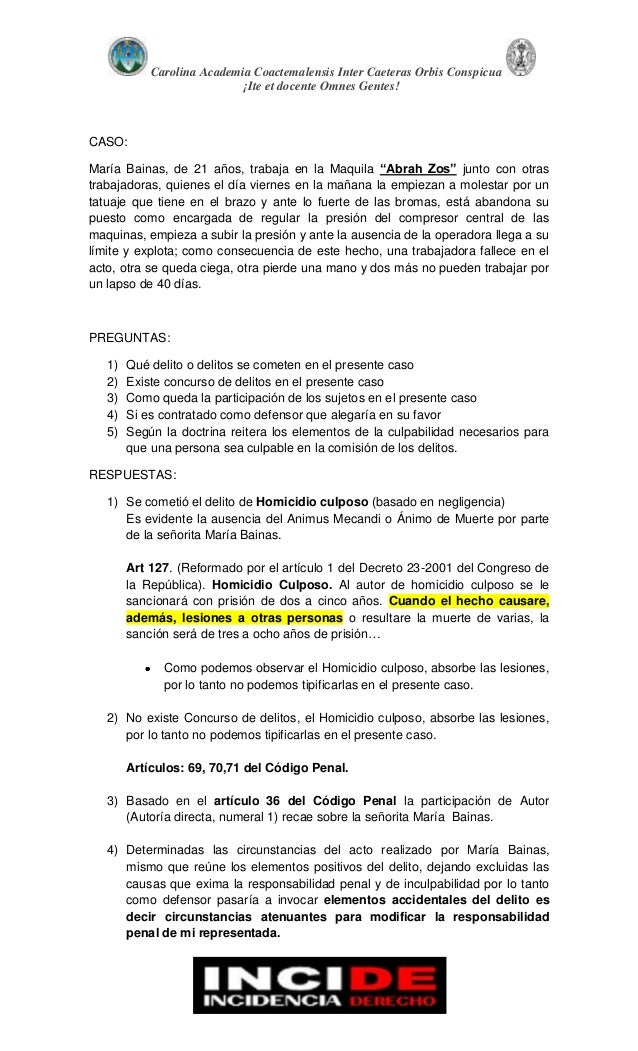 Derecho penal guatemalteco mata vela