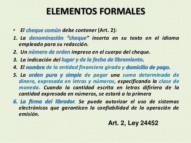 """• El debe contener (Art. 2): 1. La """" inserta en su texto en el idioma empleado para su redacción. 2. Un impreso en el cuer..."""