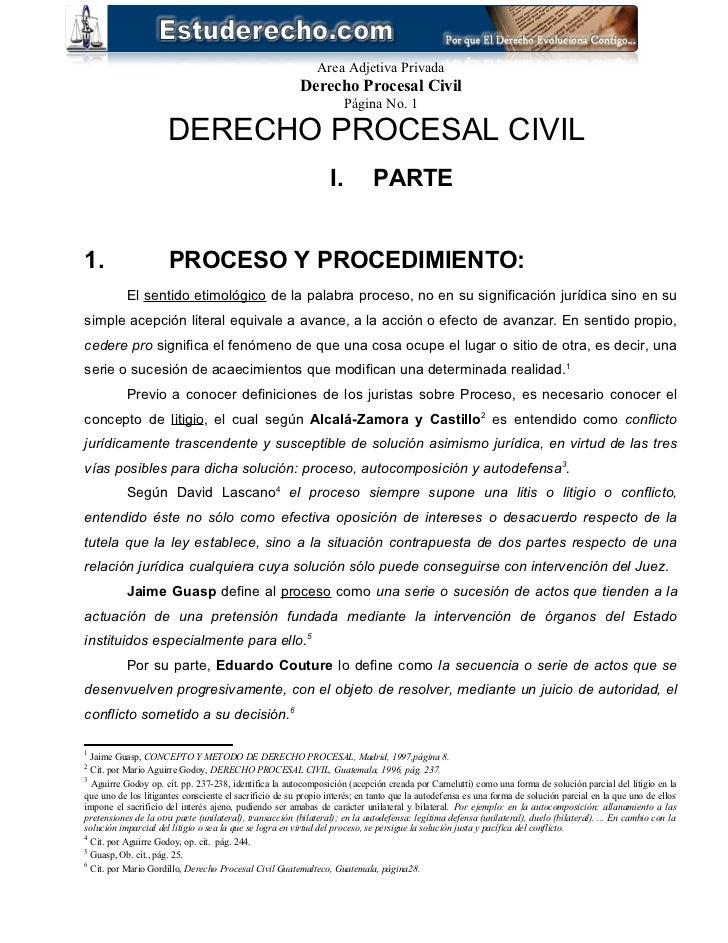 Area Adjetiva Privada                                                         Derecho Procesal Civil                      ...
