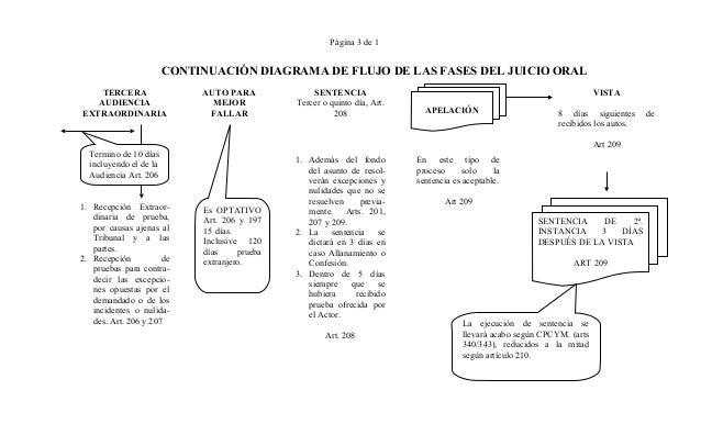 Derecho procesal civil diagramas cpycm sigue pag 22 3 pgina 3 de 1 continuacin diagrama de flujo de las fases del juicio oral ccuart Images
