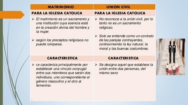 Cuadro Comparativo Matrimonio Romano Y Venezolano : El matrimonio y la unión civil