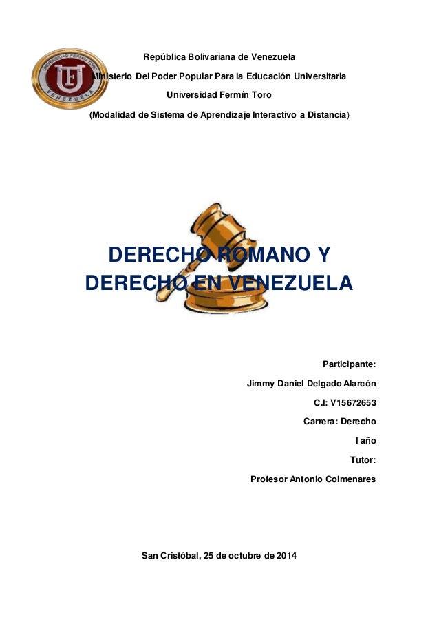 Cuadro Comparativo Matrimonio Romano Y Venezolano : Derecho romano en venezuela
