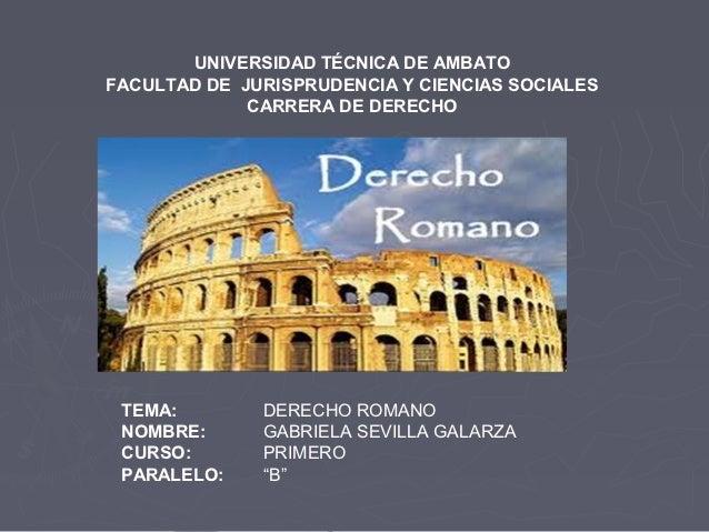 UNIVERSIDAD TÉCNICA DE AMBATOFACULTAD DE JURISPRUDENCIA Y CIENCIAS SOCIALES             CARRERA DE DERECHO TEMA:        DE...