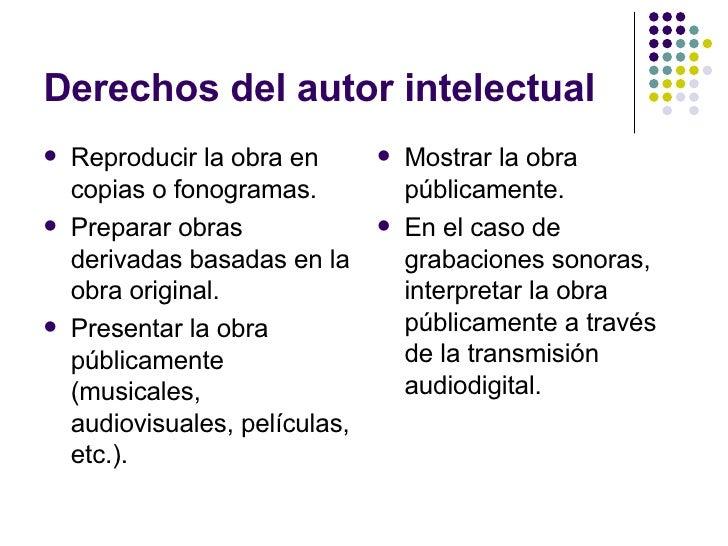 Derechos de Autor y Propiedad Intelectual Slide 3