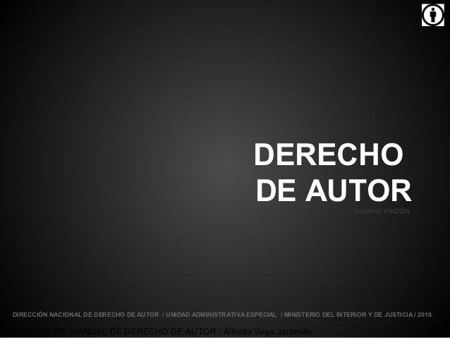 DERECHO                                                                   DE AUTOR                    SUANNY PINZÓNDIRECCI...