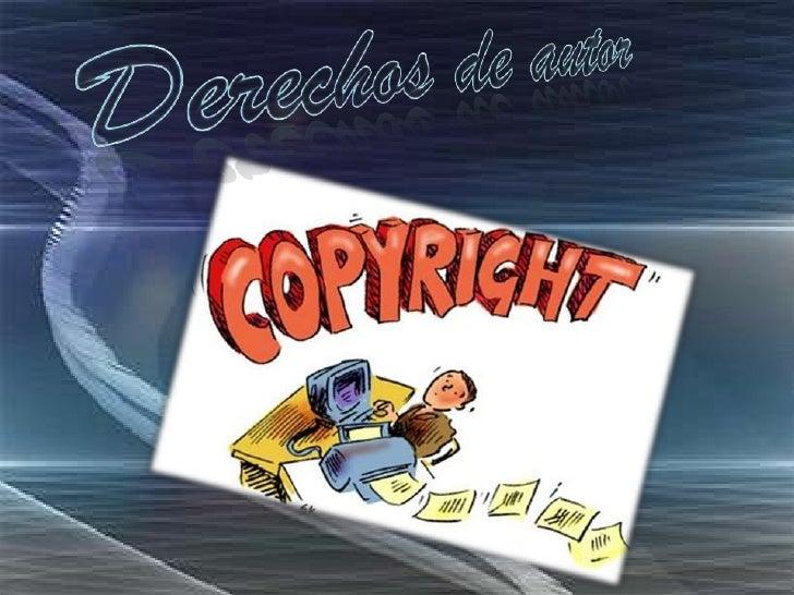 Derechos de autor<br />