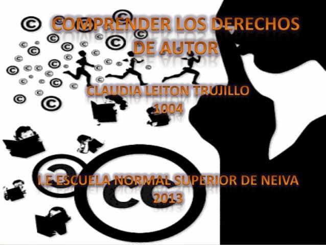 El derecho de autor es un conjunto de normas jurídicas y principios que regulan los derechos morales y patrimoniales que l...